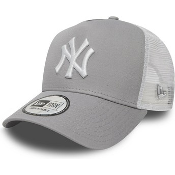 New Era Clean A Frame 2 New York Yankees MLB Grey Trucker Hat