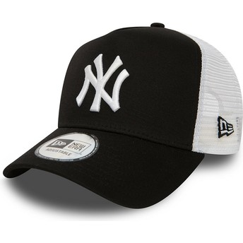 New Era Clean A Frame 2 New York Yankees MLB Black Trucker Hat