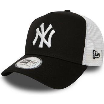 New Era Clean A Frame 2 New York Yankees MLB Black Trucker Hat