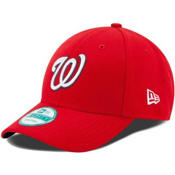 New Era Curved Brim 9FORTY The League Washington Nationals MLB Red Adjustable Cap