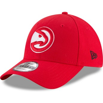New Era Curved Brim 9FORTY The League Atlanta Hawks NBA Red Adjustable Cap