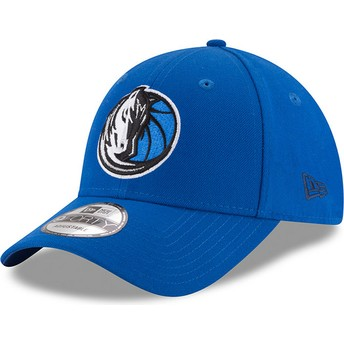 New Era Curved Brim 9FORTY The League Dallas Mavericks NBA Blue Adjustable Cap