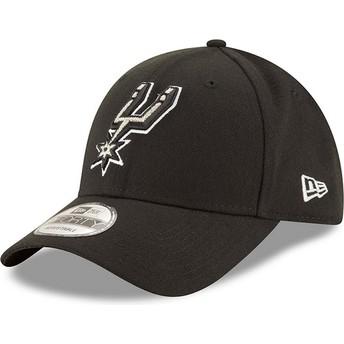 New Era Curved Brim 9FORTY The League San Antonio Spurs NBA Black Adjustable Cap