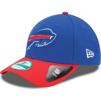 New Era Curved Brim 9FORTY The League Buffalo Bills NFL Blue and Red Adjustable Cap