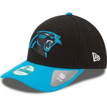 New Era Curved Brim 9FORTY The League Carolina Panthers NFL Black and Blue Adjustable Cap