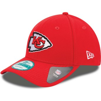 New Era Curved Brim 9FORTY The League Kansas City Chiefs NFL Red Adjustable Cap