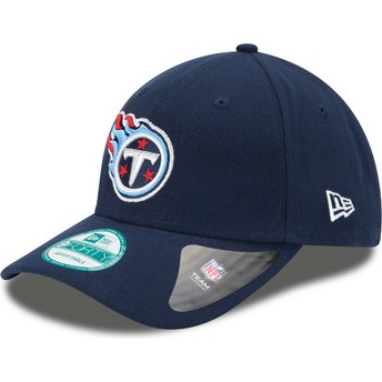 New Era Curved Brim 9FORTY The League Tennessee Titans NFL Navy Blue Adjustable Cap
