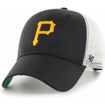 47 Brand Pittsburgh Pirates MLB MVP Branson Black Trucker Hat