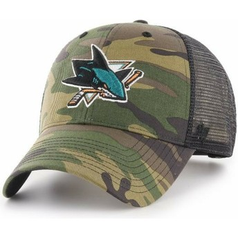 47 Brand San Jose Sharks NHL MVP Branson Camouflage Trucker Hat
