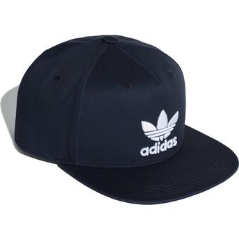Adidas Flat Brim Trefoil Navy Blue Snapback Cap