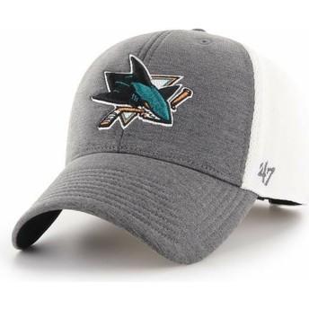 47 Brand Curved Brim San Jose Sharks NHL MVP Haskell Grey Cap