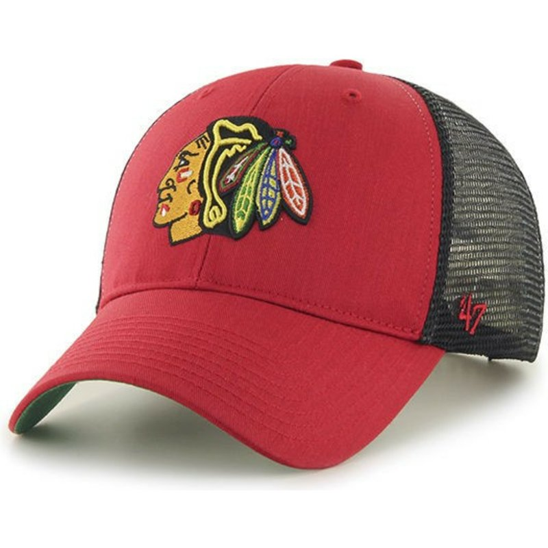 47-brand-chicago-blackhawks-nhl-mvp-branson-red-trucker-hat