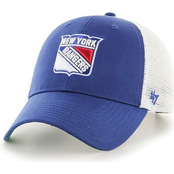 47 Brand New York Rangers NHL MVP Branson Blue Trucker Hat