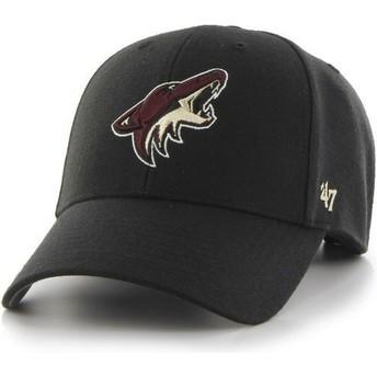 47 Brand Curved Brim Arizona Coyotes NHL MVP Black Cap