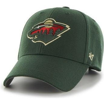 47 Brand Curved Brim Minnesota Wild NHL MVP Green Cap