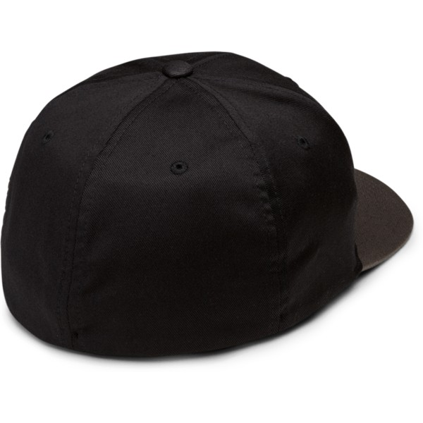 volcom-curved-brim-black-grey-full-stone-xfit-black-fitted-cap-with-grey-visor