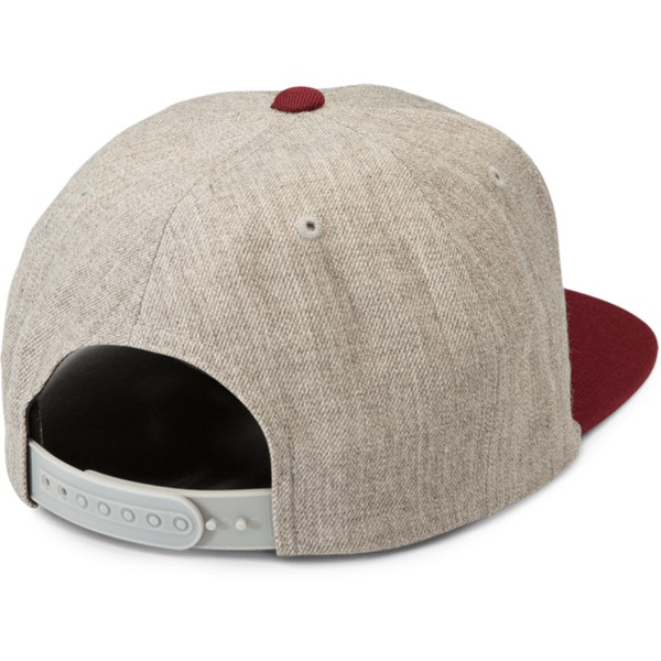 volcom-flat-brim-crimson-quarter-twill-grey-snapback-cap-with-red-visor