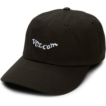 Volcom Curved Brim Black Stencil Black Adjustable Cap