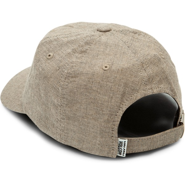 volcom-curved-brim-clay-pixel-stone-grey-adjustable-cap
