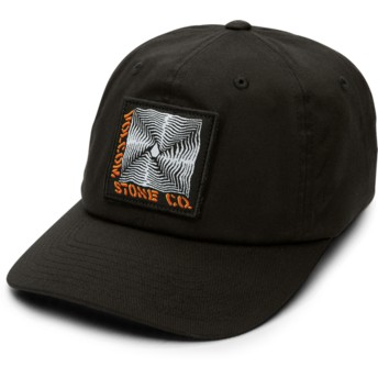 Volcom Curved Brim Black Stone Radiator Xfit Black Fitted Cap