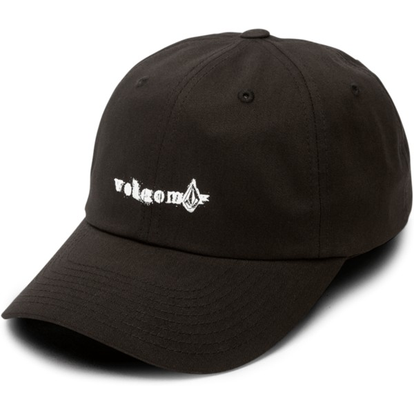 volcom-curved-brim-black-stonographer-black-adjustable-cap