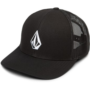 Volcom New Black Full Stone Cheese Black Trucker Hat