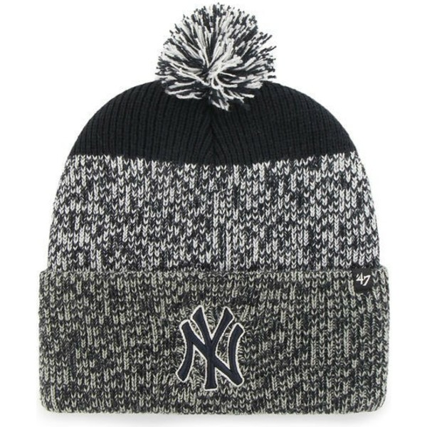 47-brand-new-york-yankees-mlb-cuff-knit-static-grey-and-navy-blue-beanie-with-pompom