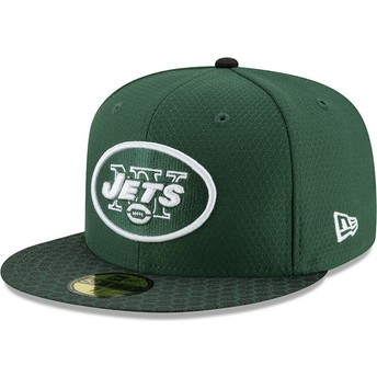 New Era Flat Brim 59FIFTY Sideline New York Jets NFL Green Fitted Cap