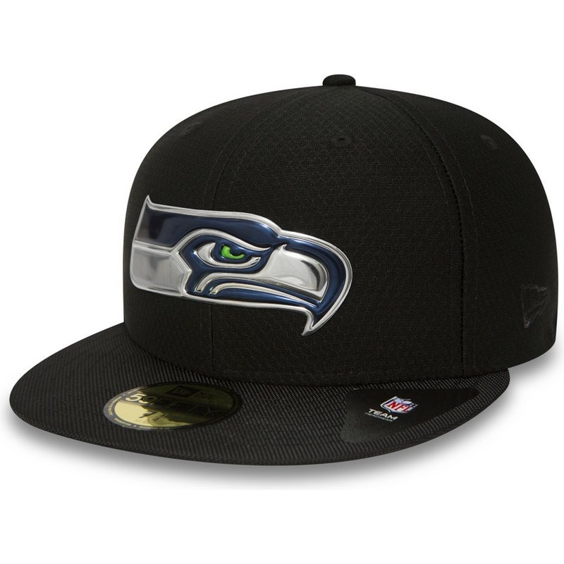 New Era-NFL Seattle Seahawks Authentic On-Field 59 Fifty Cap-Navy