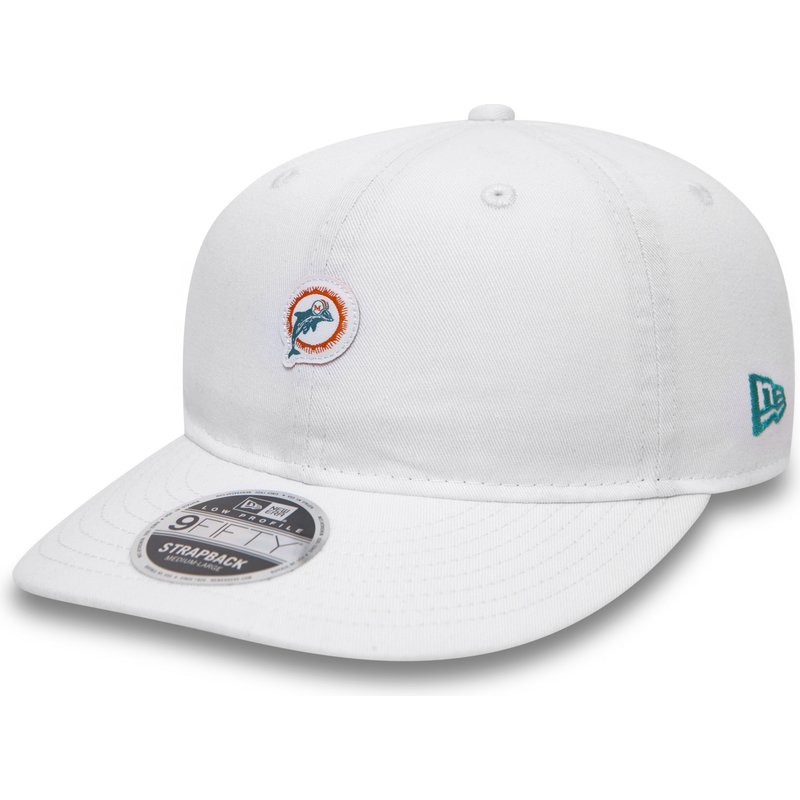 new-era-flat-brim-9fifty-low-profile-unstructured-miami-dolphins-nfl-white-snapback-cap