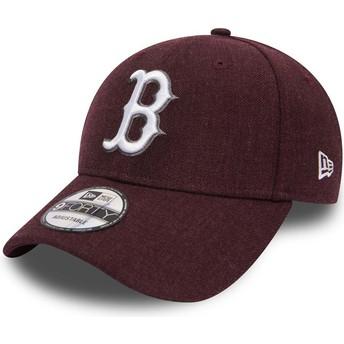 New Era Curved Brim 9FORTY Seasonal Heather Boston Red Sox MLB Purple Adjustable Cap