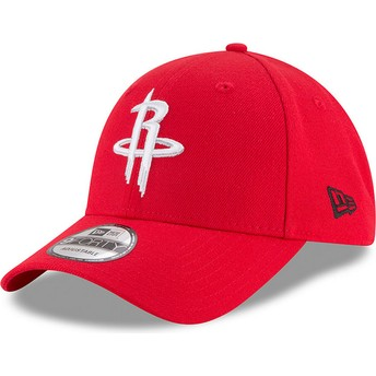 New Era Curved Brim 9FORTY The League Houston Rockets NBA Red Adjustable Cap