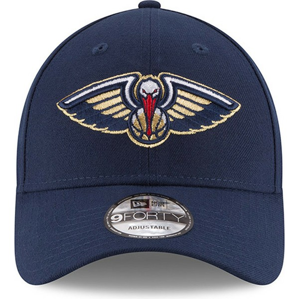New Era Curved Brim 9forty The League New Orleans Pelicans Nba Navy Blue Adjustable Cap