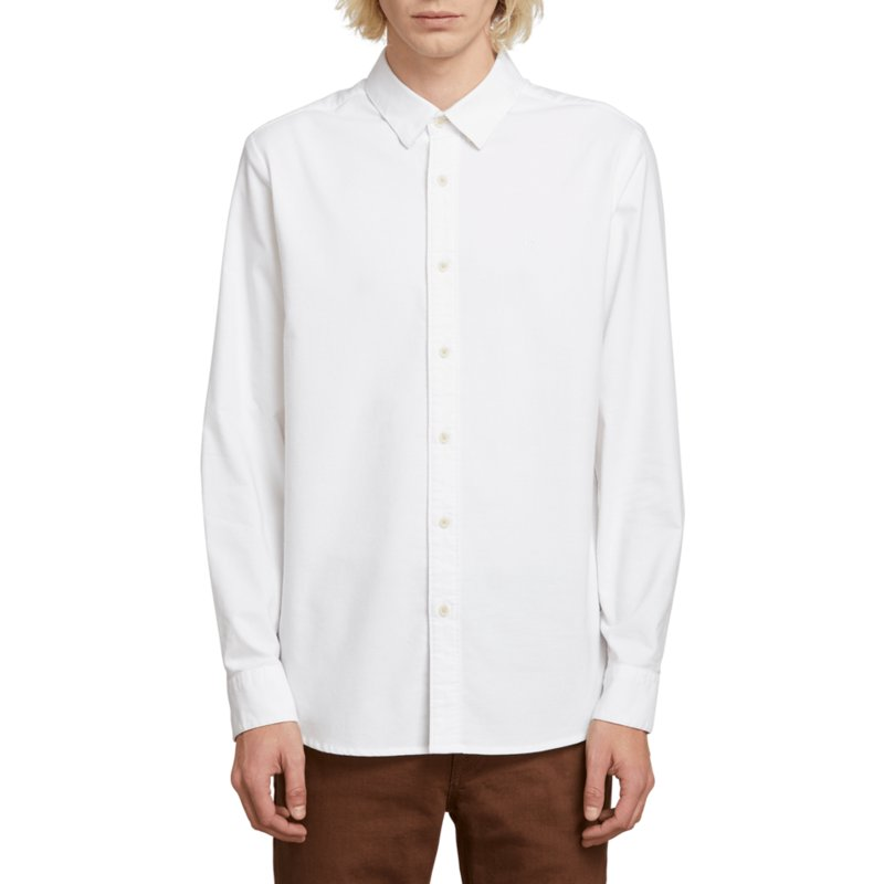 volcom-white-oxford-stretch-white-long-sleeve-shirt