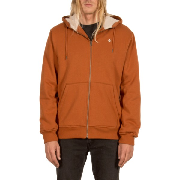 volcom-copper-single-stone-brown-zip-through-hoodie-sweatshirt