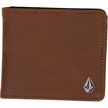 Volcom Brown Slim Stone Brown Wallet
