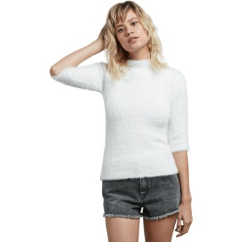 Volcom Star White Bunney Riot White Sweater