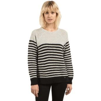 Volcom Star White Cold Daze Black and White Sweater