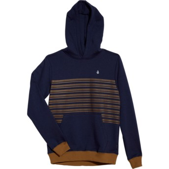 Volcom Youth Deep Blue Threezy Blue Hoodie Sweatshirt