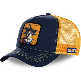 Capslab Son Goku GOK Dragon Ball Orange and Navy Blue Trucker Hat