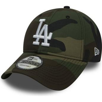 New Era Curved Brim 9TWENTY Essential Packable Los Angeles Dodgers MLB Camouflage Adjustable Cap