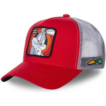 Capslab Bugs Bunny BUG1 Looney Tunes Red Trucker Hat
