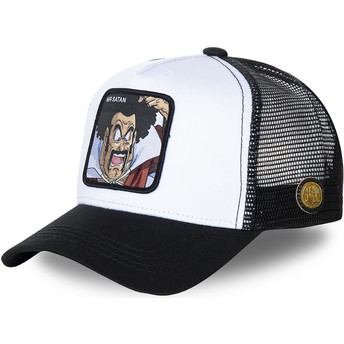 Capslab Mr. Satan SAT1 Dragon Ball White and Black Trucker Hat