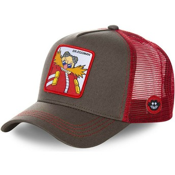 Capslab Doctor Eggman EGG Sonic the Hedgehog Grey and Red Trucker Hat