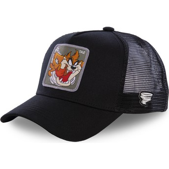 Capslab Tasmanian Devil TAZ3 Looney Tunes Black Trucker Hat