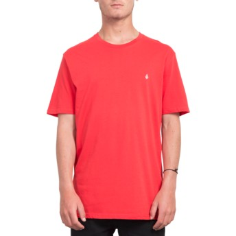 Volcom True Red Stone Blank Red T-Shirt