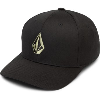 Volcom Curved Brim Dusty Green Full Stone Xfit Black Fitted Cap