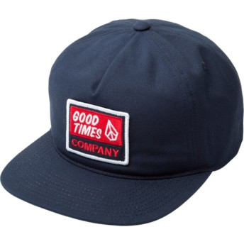 Volcom Flat Brim Indigo Righteous Navy Blue Snapback Cap