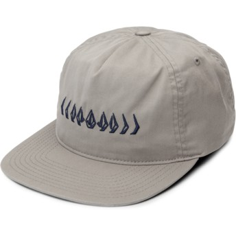 Volcom Flat Brim Grey Stone Cycle Grey Adjustable Cap