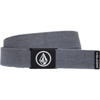Volcom Charcoal Heather Circle Web Grey Belt
